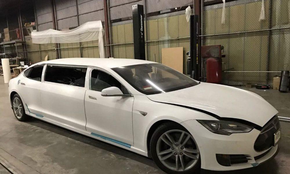 Tesla Model S Limousine Hits Ebay