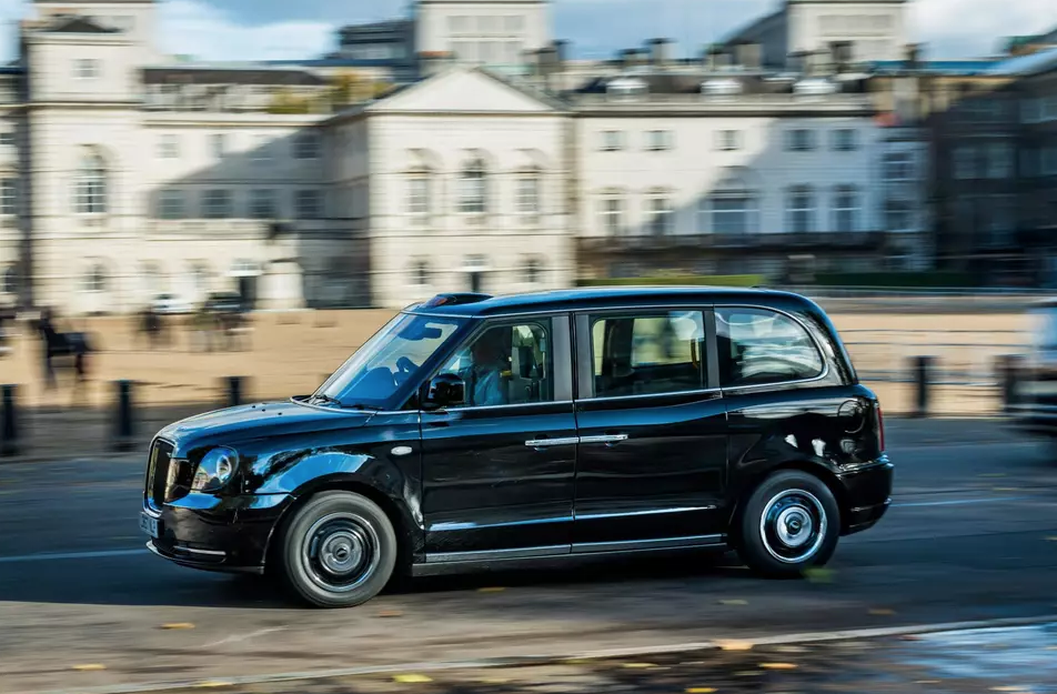 First electric black cab touches down in London